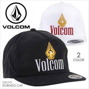 キャップ メンズ VOLCOM DORADO CAP - D5511701 ボルコム スナップバックキャップ ロゴ パロディー シンプル サーフ スケート ストリート 深め 帽子 YUPOONG 201|3direct