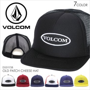 VOLCOM ボルコム キャップ メンズ OLD PATCH CHEESE HAT - D5517JB スナップバック メッシュキャップ|3direct