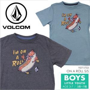 Tシャツ キッズ VOLCOM ON A ROLL S/S LITTLEYOUTH - Y5711733 ボルコム ボーイズ ユース サーフ スケート プリント ポップ イラスト キャラクター 半袖 S/S 男|3direct