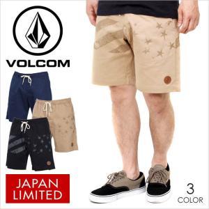 ハーフパンツ メンズ VOLCOM PATCH II SHORT - A10217JA  ボルコム パンツ ショーツ ショートパンツ 膝上 星条旗 シンプル サーフ|3direct
