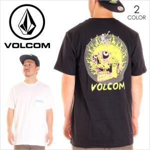 Tシャツ メンズ VOLCOM SHRED SKULL S/S POCKET - A3521706 ボルコム バックプリント スカル サーフ スケート ストリート|3direct
