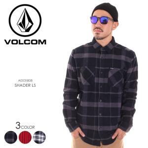VOLCOM ボルコム シャツ メンズ SHADER LS A0531808 2018秋冬 ブラック/レッド/ホワイト S/M/L|3direct