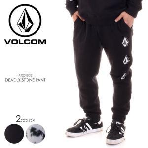 VOLCOM ボルコム スウェットパンツ メンズ DEADLY STONE PANT A1231802 2018秋冬 ブラック/ホワイト S/M/L/XL|3direct