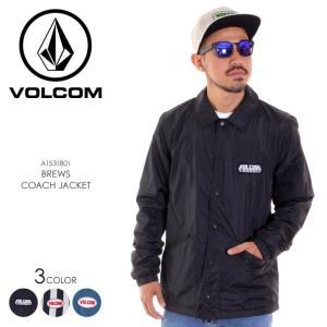 VOLCOM ボルコム コーチジャケット メンズ BREWS COACH JACKET A1531801 2018秋冬 ブラック/ストライプ/ブルー S/M/L|3direct