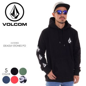VOLCOM ボルコム パーカー メンズ DEADLY STONES PO A4131805 2018秋冬 ブラック/グリーン/ネイビー/レッド/タイダイ S/M/L|3direct