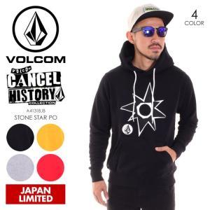 VOLCOM ボルコム パーカー メンズ STONE STAR PO A41318JB 2018秋冬 ブラック/イエロー/グレー/レッド M/L/XL|3direct