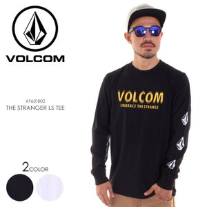 VOLCOM ボルコム Tシャツ ロンT メンズ THE STRANGER LS TEE AF631802 2018秋冬 ブラック/ホワイト S/M/L/XL|3direct
