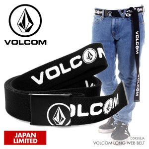 VOLCOM ボルコム ベルト メンズ VOLCOM LONG WEB BELT D59318JA 2018秋冬 ブラック フリーサイズ|3direct
