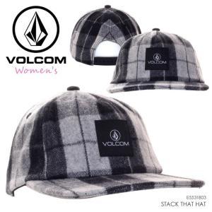 VOLCOM ボルコム キャップ レディース STACK THAT HAT E551803 2018秋冬 ブラック ワンサイズ|3direct