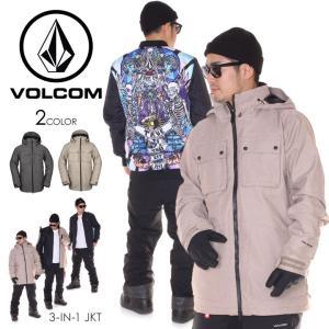 VOLCOM ボルコム スノーウェア メンズ PAT MOORE 3-IN-1 JKT G0451904|3direct
