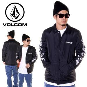 VOLCOM ボルコム ジャケット メンズ STONE SPEW COACH JACKET A16418JA 2018秋冬 ブラック S/M/L/XL|3direct