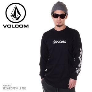 VOLCOM ボルコム ロンT メンズ STONE SPEW L/S TEE A3641802 2018秋冬 ブラック S/M/L|3direct