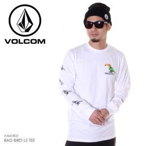 SALE セール VOLCOM ボルコム ロンT メンズ BAD BIRD L/S TEE A3641803 2018秋冬 ホワイト S/M/L|3direct