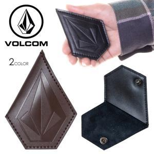 VOLCOM ボルコム コインケース メンズ STONE COIN CASE D67418JC 2018秋冬 ブラック/ブラウン ワンサイズ|3direct