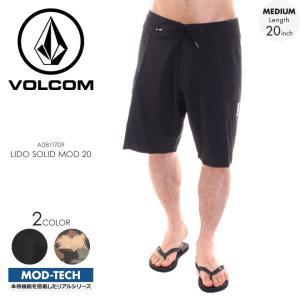 VOLCOM サーフパンツ メンズ LIDO SOLID MOD 20 A0811709 2018春夏 ブラック/グリーン 28/29/30/31/32/33/34|3direct