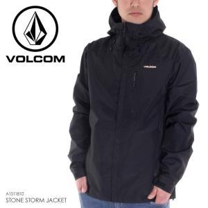 VOLCOM ジャケット メンズ STONE STORM JACKET 2018春 A1511810 ブラック S/M/L|3direct