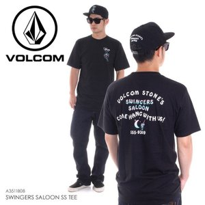 VOLCOM Tシャツ メンズ SWINGERS SALOON S/S TEE A3511808 2018春夏 ブラック S/M/L|3direct
