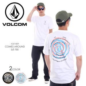 VOLCOM Tシャツ メンズ COMES AROUND S/S TEE A3511809 2018春夏 ブラック/ホワイト S/M/L|3direct