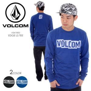 VOLCOM Tシャツ ロンT メンズ EDGE L/S TEE A3611800 2018春 ブラック/ブルー S/M/L|3direct