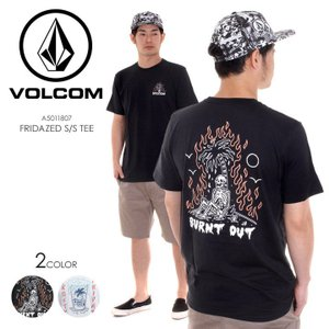 VOLCOM Tシャツ メンズ FRIDAZED S/S TEE A5011807 2018春夏 ブラック/ホワイト S/M/L|3direct