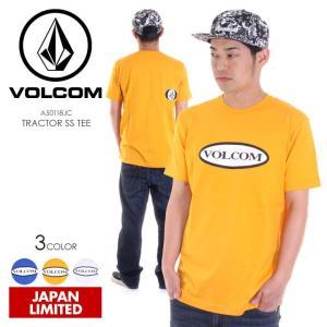 VOLCOM Tシャツ メンズ TRACTOR S/S TEE 2018春 A50118JC ブルー/イエロー/ホワイト S/M/L/XL/XXL|3direct