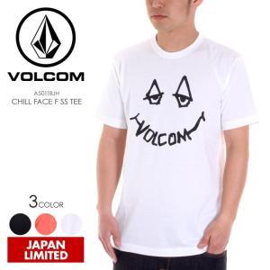 VOLCOM Tシャツ メンズ CHILL FACE F S/S TEE 2018春 A50118JH ブラック/ホワイト/サーモンピンク S/M/L/XL|3direct