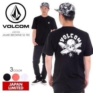 VOLCOM Tシャツ メンズ JAMIE BROWNE S/S TEE 2018春 A50118JI ブラック/ホワイト/サーモンピンク S/M/L/XL|3direct