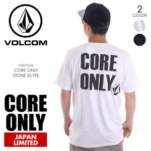 VOLCOM Tシャツ メンズ CORE ONLY STONE S/S TEE A50118JM 2018春夏 ブラック/ホワイト S/M/L|3direct