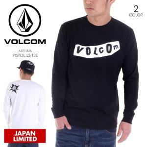 VOLCOM ロンT メンズ PISTOL L/S TEE 2018春 A51118JA ブラック/ホワイト S/M/L/XL/XXL|3direct