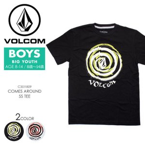 VOLCOM Tシャツ キッズ COMES AROUND S/S TEE YOUTH C3511809 2018春夏 ブラック/ホワイト 140cm/150cm/160cm|3direct