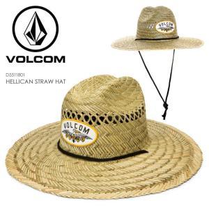 VOLCOM ハット メンズ HELLICAN STRAW HAT D5511801 2018春 ナチュラル S-M/L-XL|3direct