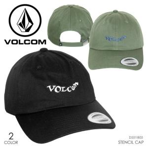 VOLCOM キャップ メンズ STENCIL CAP 2018春 D5511805 ブラック/オリーブ フリーサイズ 取寄可|3direct