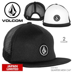 VOLCOM キャップ メンズ QUARTER MESH CAP 2018春 D55118JA ブラック/ホワイト フリーサイズ|3direct