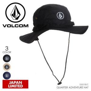 VOLCOM ハット メンズ QUARTER ADVENTURE HAT 2018春 D55118JC ブラック/ベージュ/ネイビー ワンサイズ|3direct