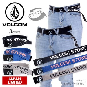 VOLCOM ベルト メンズ STENCIL WEB BELT 2018春 D59118JA ブラック/ネイビー/ベージュ ワンサイズ|3direct