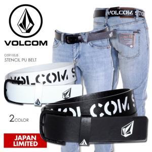 VOLCOM ベルト メンズ STENCIL PU BELT 2018春 D59118JB ブラック/ホワイト ワンサイズ|3direct