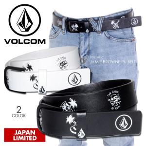 VOLCOM ベルト メンズ JAMIE BROWNE PU BELT 2018春 D59118JC ブラック/ホワイト ワンサイズ|3direct