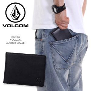 VOLCOM 財布 メンズ VOLCOM LEATHER WALLET D6011852 2018春 ブラック ワンサイズ|3direct