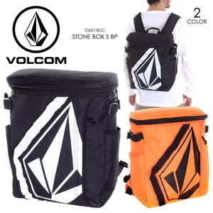 VOLCOM リュック メンズ STONE BOX S BP D65118JC 2018春 ブラック/オレンジ 14L|3direct