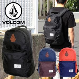VOLCOM リュック メンズ STONE NOSE BP D65118JD 2018春 ブラック/ネイビー/オレンジ 26L|3direct