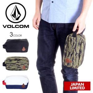 VOLCOM ポーチ メンズ レディース STONE NOSE POUCH D65118JM 2018春 ブラック/カモフラージュ/トリコロール ワンサイズ|3direct
