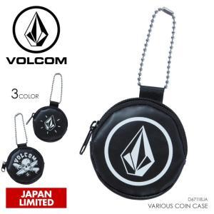 VOLCOM コインケース メンズ VARIOUS COIN CASE D67118JA 2018春 ブラック ワンサイズ|3direct