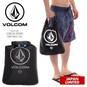 VOLCOM ドライバッグ メンズ CIRCLE STONE DRY BAG D67118JF 2018春 ブラック 15L|3direct