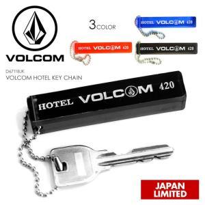 VOLCOM キーチェーン VOLCOM HOTEL KEY CHAIN 2018春 D67118JK ブラック/ブルー/レッド ワンサイズ|3direct