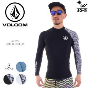 VOLCOM ラッシュガード メンズ LIDO BLOCK L/S N0311801 2018春夏 ブラック/ホワイト/ブルー S/M/L/XL 3direct