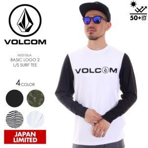 VOLCOM ラッシュガード メンズ BASIC LOGO2 L/S SURF TEE N03118JA 2018春夏 ブラック/パターン/ホワイト S/M/L/XL 3direct
