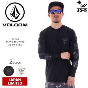 VOLCOM ラッシュガード メンズ JAMIE BRONE L/S SURF TEE N03118JB 2018春夏 ブラック/ホワイト S/M/L/XL 3direct