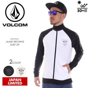 VOLCOM ラッシュガード メンズ JAMIE BROWNE SURF ZIP N03118JC 2018春夏 ブラック/ホワイト S/M/L/XL 3direct