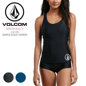 VOLCOM タンキニ レディース SIMPLY SOLID TANKINI O1611700 2018春夏 ブラック/ブルー S/M 3direct