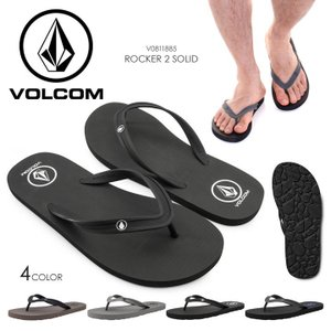 VOLCOM サンダル メンズ ROCKER 2 SOLID V0811885 2018春夏 ブラック/グレー/ブラウン 26cm/27cm/28cm/29cm|3direct